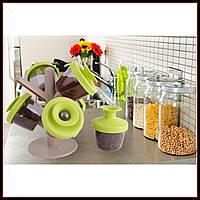 Набор емкостей для специй Spice Rack, органайзер для герметического хранения специй, фото 1