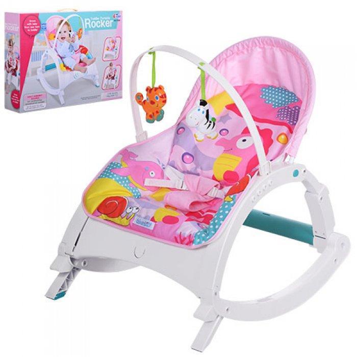 Шезлонг-качалка детский Bambi Rocker со столиком