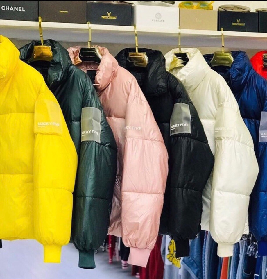 Модная дутая куртка