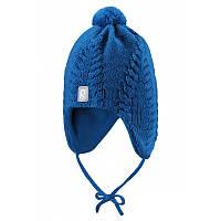 Зимние детские шерстяные шапки Reima Kengis, синяя, 48/50 р.