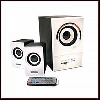 Колонки для компьютера с сабвуфером SW 801U Белые, акустика для ПК и ноутбука