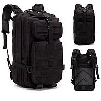 Тактичний, похідний, військовий рюкзак Military. 25 L. Чорний