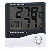 НТС-1 Гігрометр з вимірювачем вологості Термогігрометр цифровий годинник будильник метеостанція