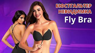 Бюстгальтер-неведимка Fly Bra с эффектом Рush Up | Черный