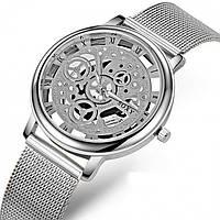 Мужские часы Skeleton steel