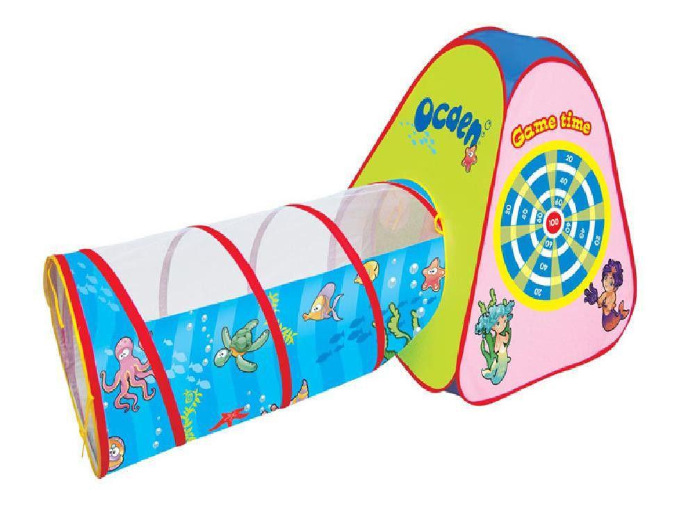 Палатка детская с тоннелем в сумке 165*70*87 см