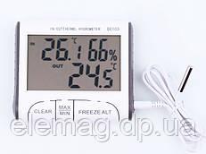Гигрометр термометр c выносным датчиком DC-103 (видео описание)