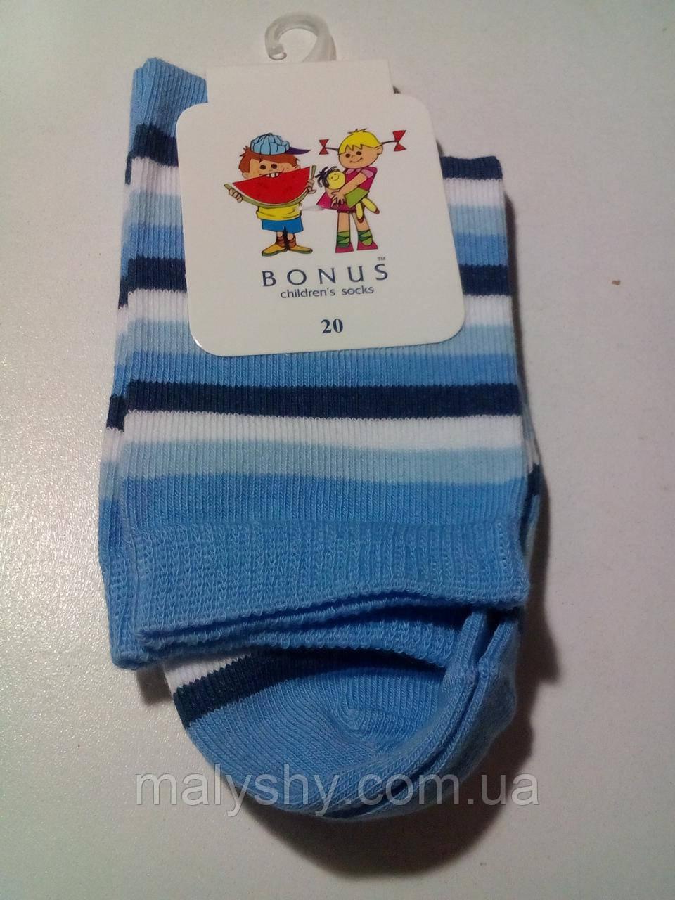 Детские носки демисезонные - BONUS (от ТМ Дюна) р.20 (шкарпетки дитячі) 2 2005 415 20 голубой