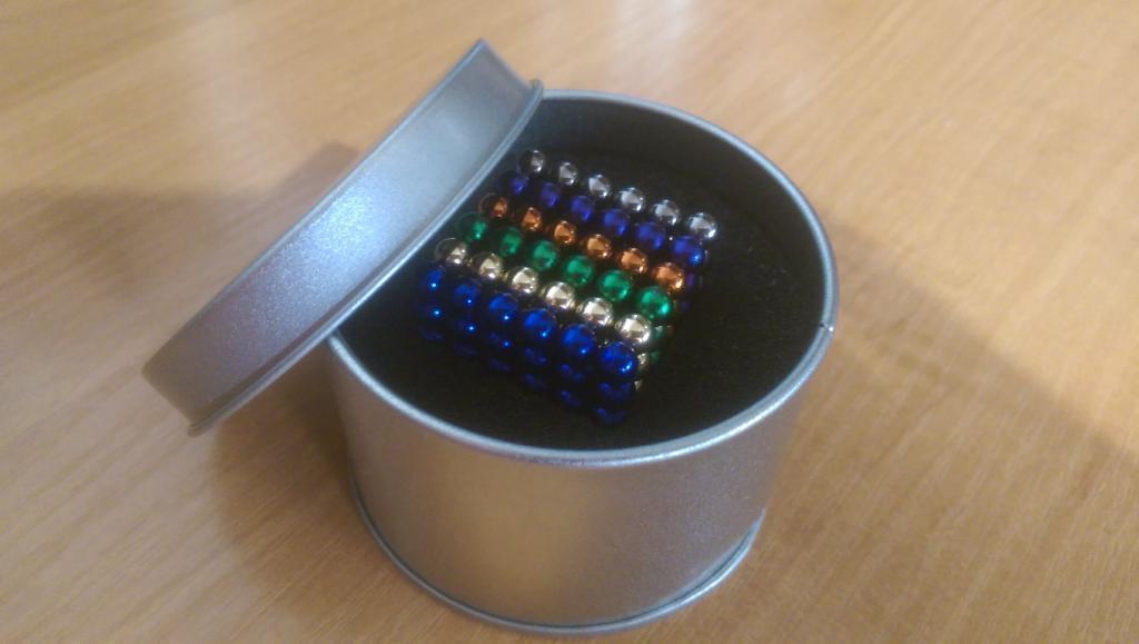 Неокуб  Радуга в боксе Neocube разноцветный 216 шариков