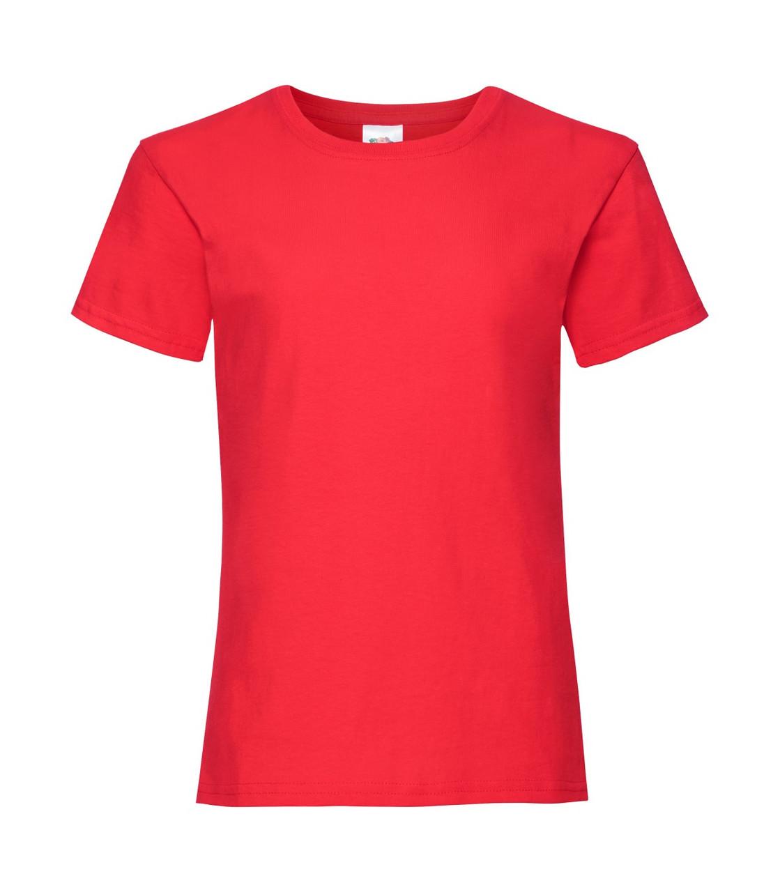Футболка для дівчаток бавовна червона 017-40