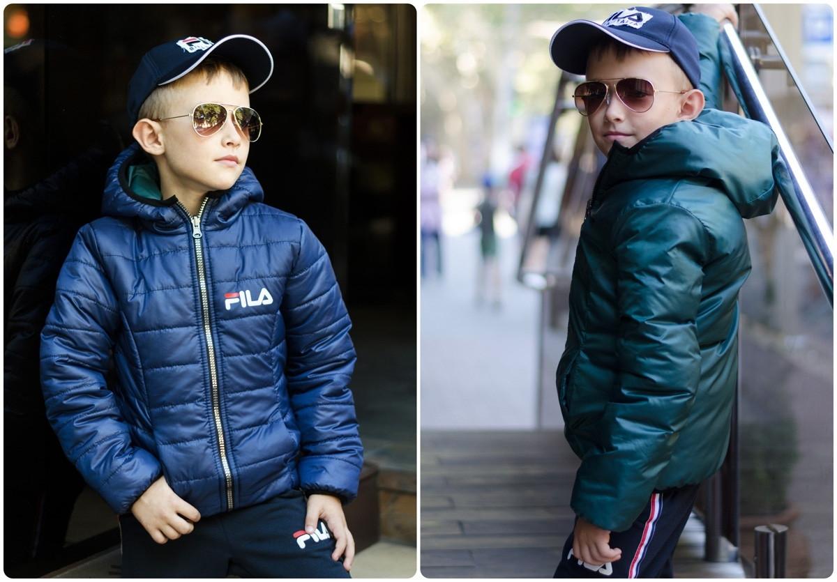 Двухсторонняя демисезонная курточка  на мальчика и девочку