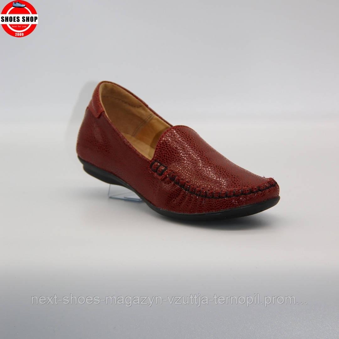 Жіночі мокасини Lesta (Польща) червоного кольору. Красиві та комфортні. Стиль: Адріана Ліма