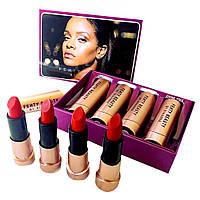 Набор матовых помад Fenty Beauty 4 штуки by Rihanna   матовая помада Фенти Бьюти