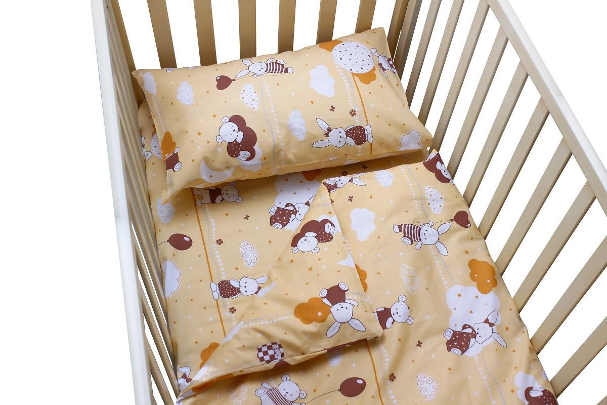 Постельное белье для малышей в кроватку Зайчата