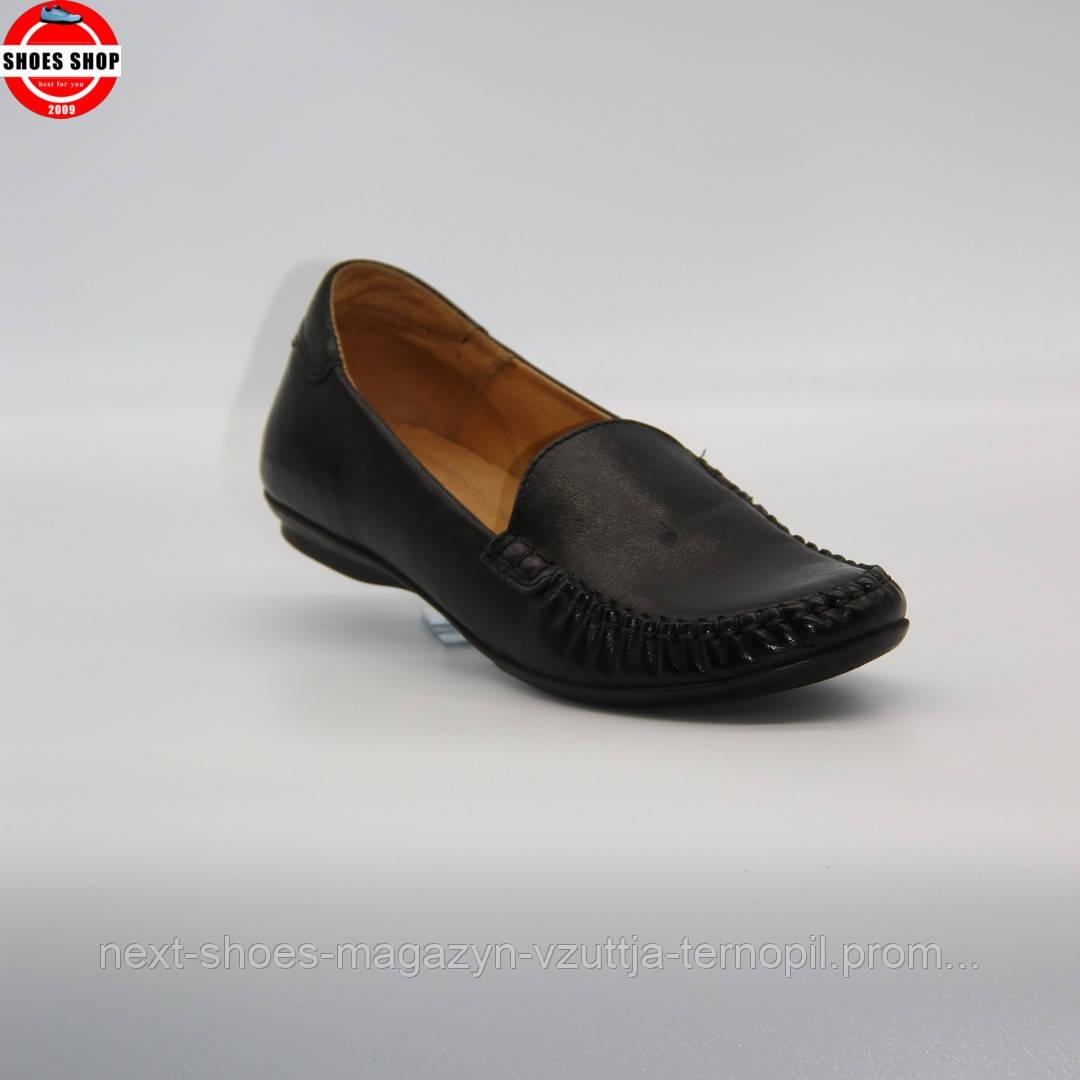 Жіночі мокасини Lesta (Польща) чорного кольору. Красиві та комфортні. Стиль: Адріана Ліма