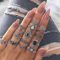 """Набор колец """"Tiffany - Co"""" покрытие серебро"""