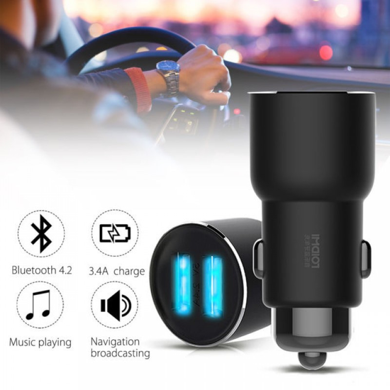 Автомобильное ЗУ FM-трансмиттер Xiaomi RoidMi Music Player Car Charger 3S 2USB ORIGINAL