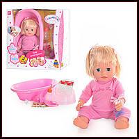 Кукла пупс Валюша с ванночкой, горшком, бутылочкой и аксессуарами T1620R/8861-8