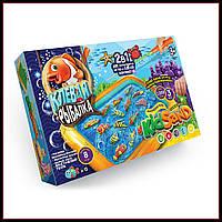 Большая настольная игра Клева рыбалка с кинетическим песком, рыбками, удочкой KidSand 7659DT