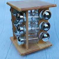 Набор для специй на деревянной подставке Stenson MS-0375
