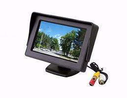 """Автомонитор LCD 4.3"""" для двох камер, монітор автомобільний для камери заднього виду, дисплей, авто екран"""