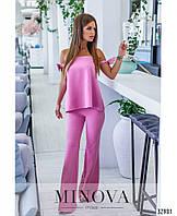 Очаровательный и очень женственный костюм с брюками клеш с 42 по 46 размер