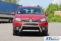 Кенгурятник Renault Scenic II (03-09) защита переднего бампера кенгурятники на для Рено Сценик Renault Scenic II (03-09) d60х1,6мм