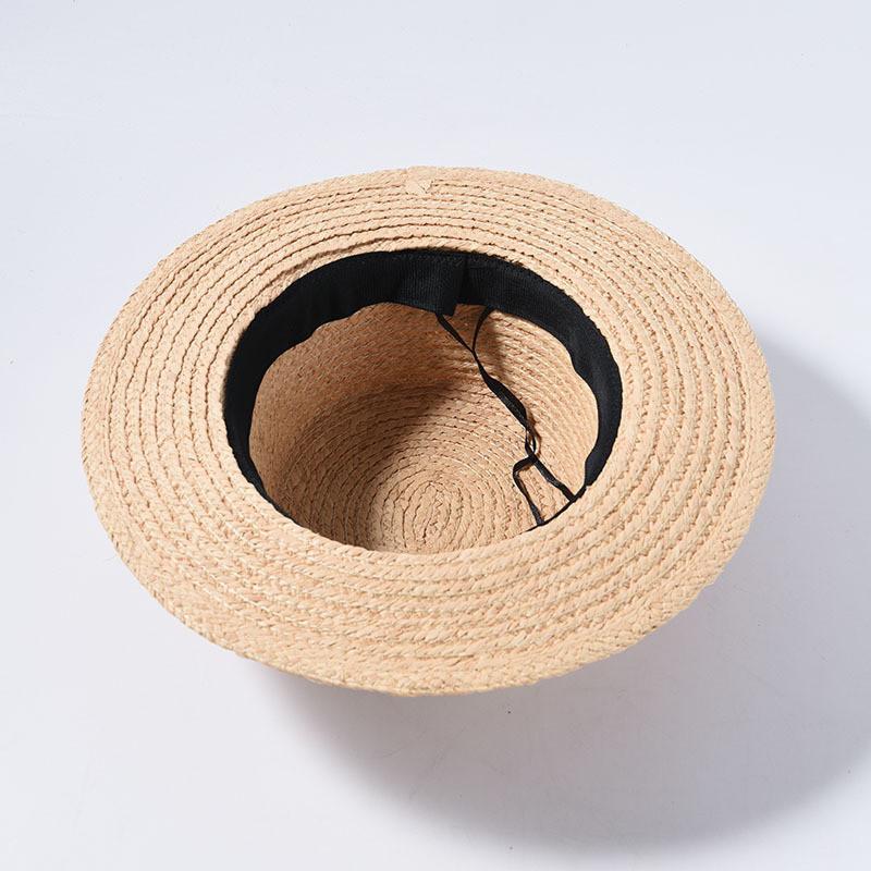 Женская соломенная шляпа канотье с бордовой ленточкой., фото 2
