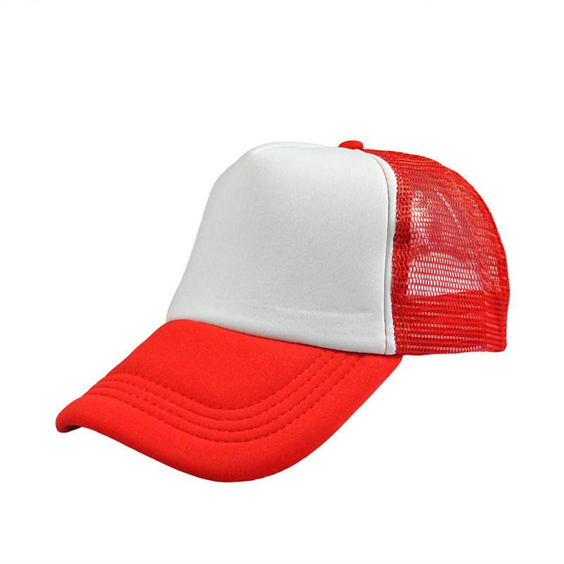 Кепка бейсболка красного цвета с сеточкой, фото 1