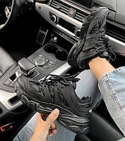 Жіночі кросівки Balenciaga Track All Black, Репліка, фото 1