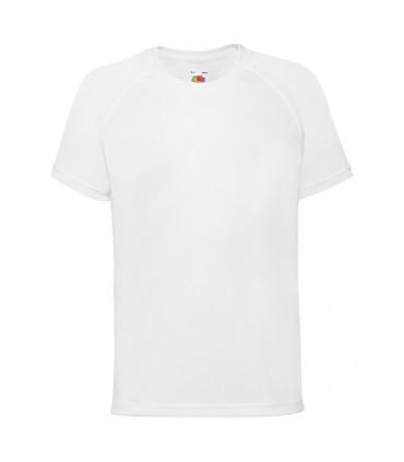 Детская спортивная футболка полиэстер белая 013-30