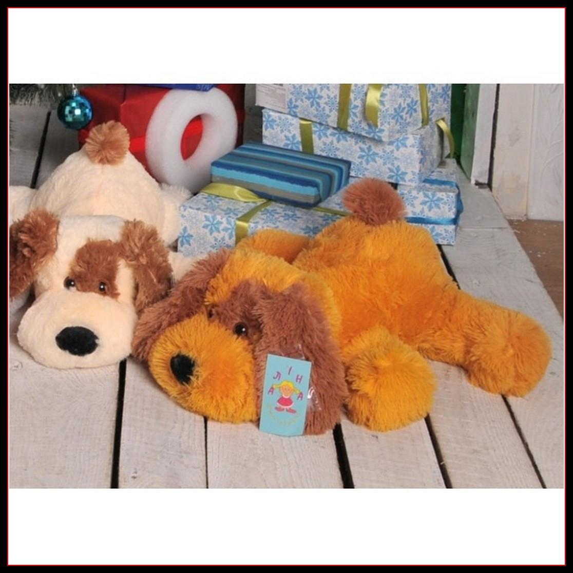 Мягкая игрушка Собака 75 см медового цвета
