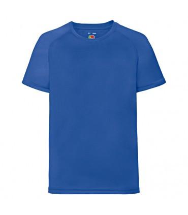 Детская спортивная футболка полиэстер синяя 013-51