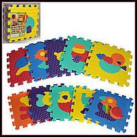 Игровой коврик Мозаика Животные, 10 деталей, 31,5х31,5 см M 2619