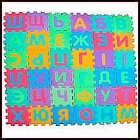 Игровой коврик Мозаика Украинский алфавит, 36 деталей, 16,5-16,5 см, 6 частей, M 0379 EVA