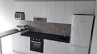 Белая кухня с черной столешницей на заказ Днепр. Мебель на заказ., фото 1