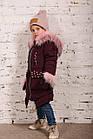 Зимнее пальто с рукавичками для девочек - сезон 2019 - (модель КТ-515), фото 2