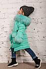 Зимнее пальто с рукавичками для девочек - сезон 2019 - (модель КТ-515), фото 3