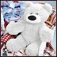 Качественная мягкая игрушка мишка 45 см белый цвет сидячий