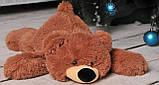 Качественная мягкая игрушка мишка 45 см розовый цвет лежачий, фото 4