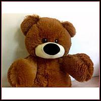 Качественная мягкая игрушка мишка 45 см коричневый цвет сидячий