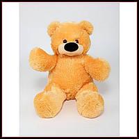 Качественная мягкая игрушка мишка 45 см медовый цвет сидячий