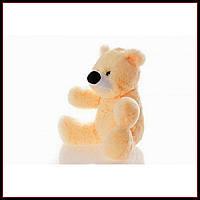 Качественная мягкая игрушка мишка 45 см персиковый цвет сидячий