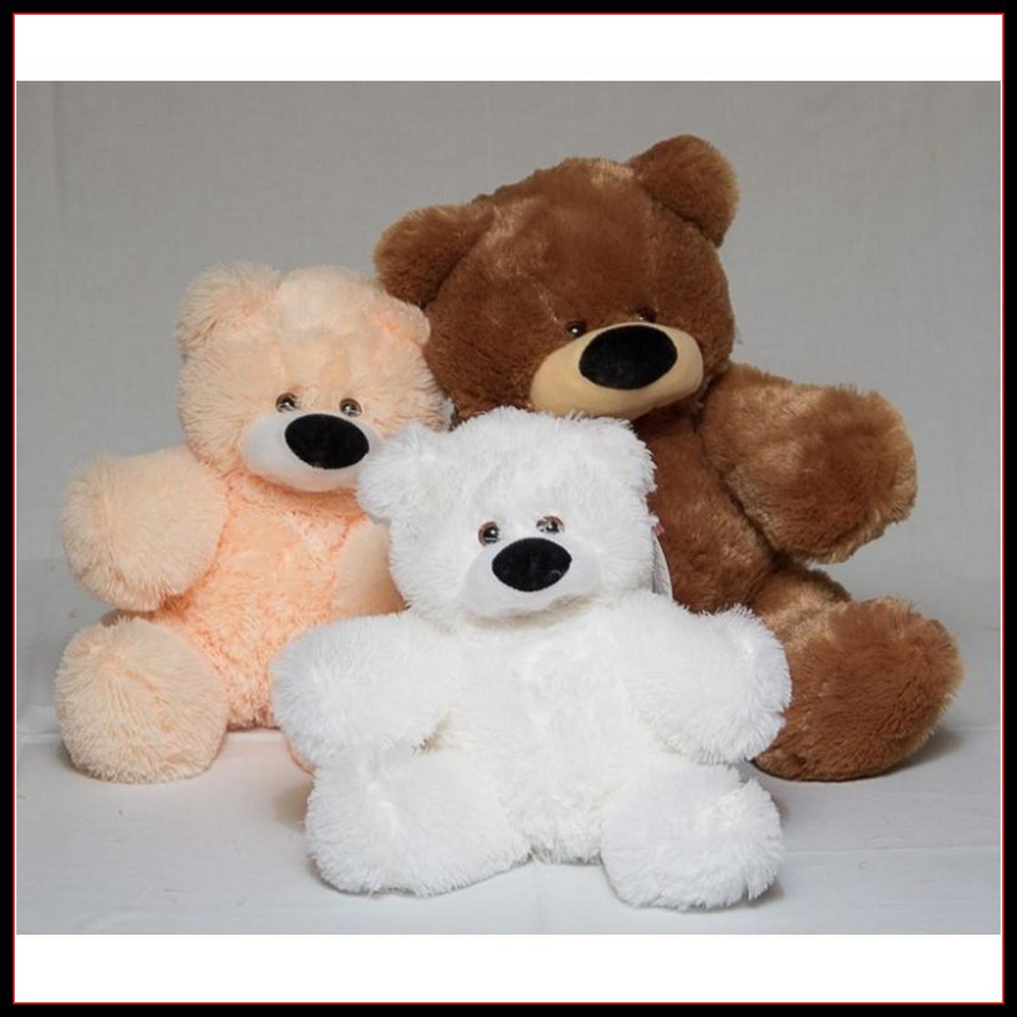 Милий сидячий ведмедик бублик м'яка іграшка 55 см персиковий
