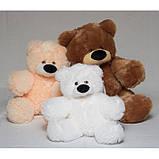 Милий сидячий ведмедик бублик м'яка іграшка 55 см персиковий, фото 2