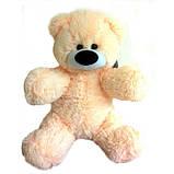 Милий сидячий ведмедик бублик м'яка іграшка 55 см персиковий, фото 3