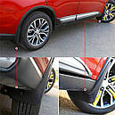 Брызговики MGC Mitsubishi Outlander Мицубиси Аутлендер 2015-2020 г.в. комплект 4 шт MZ380689EX, MZ380697EX, фото 7