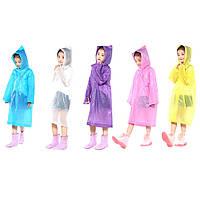 Детский цветной дождевик Lightweight Children Poncho