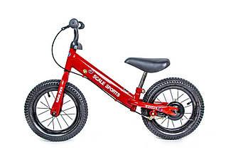 """Велобіг (беговел) Scale Sports 12"""" Червоний RED ручні гальма 40522 (1шт) в кор."""