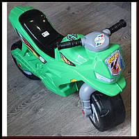 Беговел мотоцикл ORION 501G Зеленый, толокар со светом и звуком